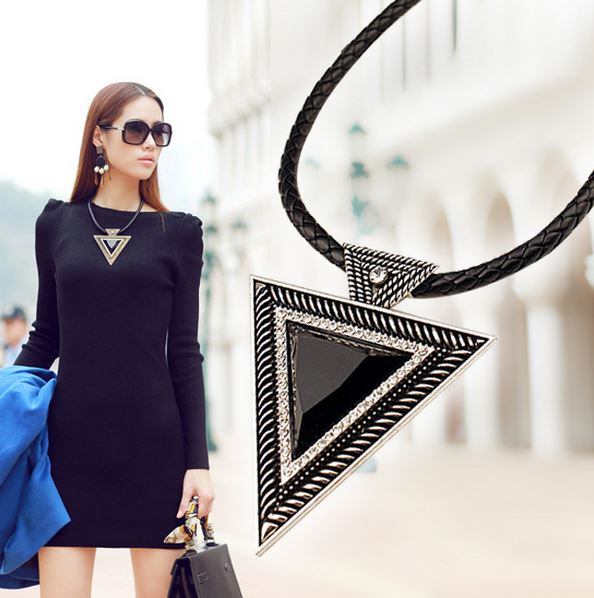 Vintage Triangle Pendant