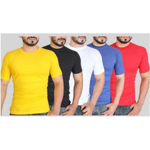 Pack Of 5 Plain T-Shirts