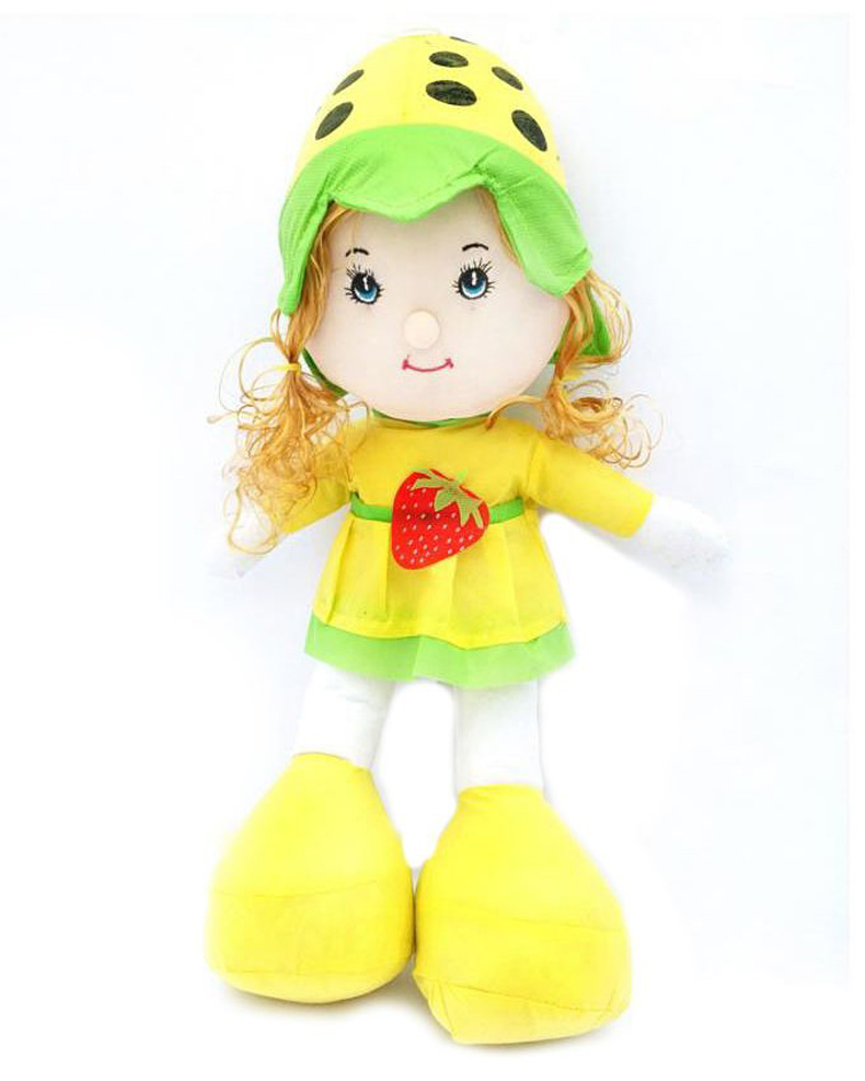 Ak Enterprises Strawberry Doll For Kids - Yellow