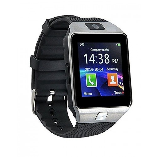 GSM Smart Mobile Watch - Black & Silver