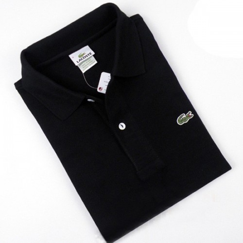 Lacoste Mens Short Sleeve Polo Shirts in Black