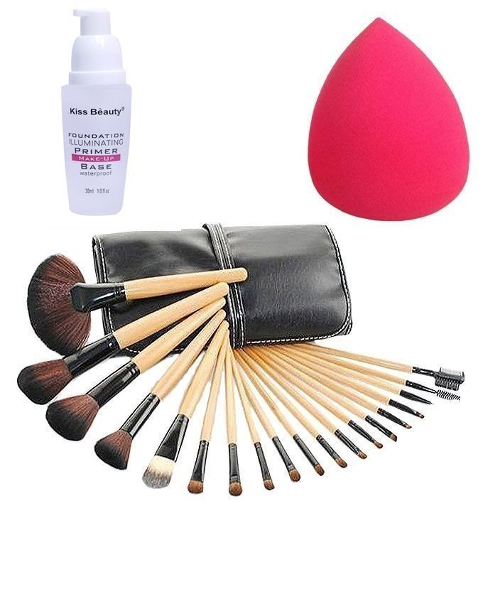 Pack of 20 - Brushes, Foundation Primer & Beauty Blender - Multicolor