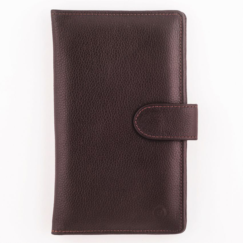 Leather Wallet for Men - Hickory Brown