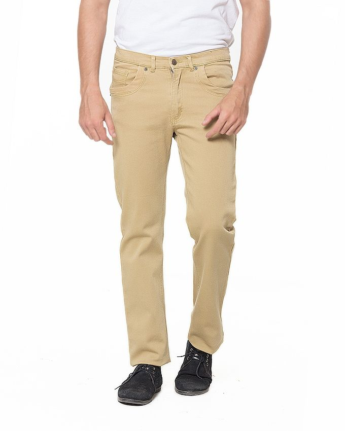 Bien Habille Mens COLOR Jeans 6159 Dark Khaki