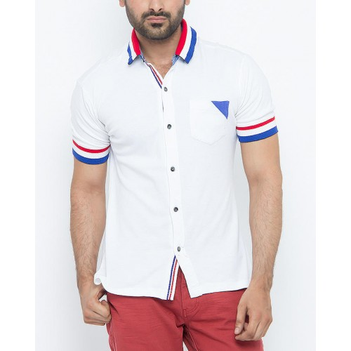 ZEDAGE Whilte Polo Shirt ZT3033
