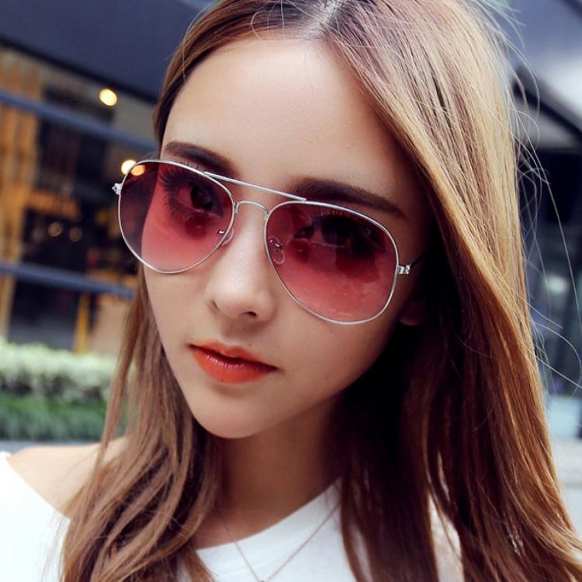 Ray Ban Transparent Pink Sunglasses For Men & Women