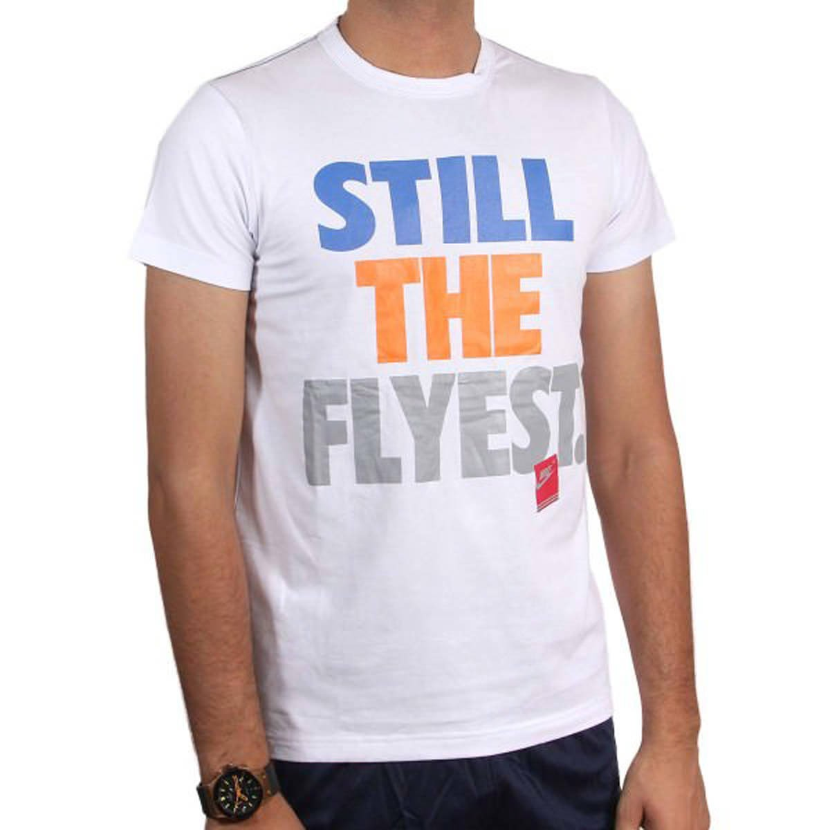 White Still The Flyest Printed T-Shirt - MTS-N-001-WT