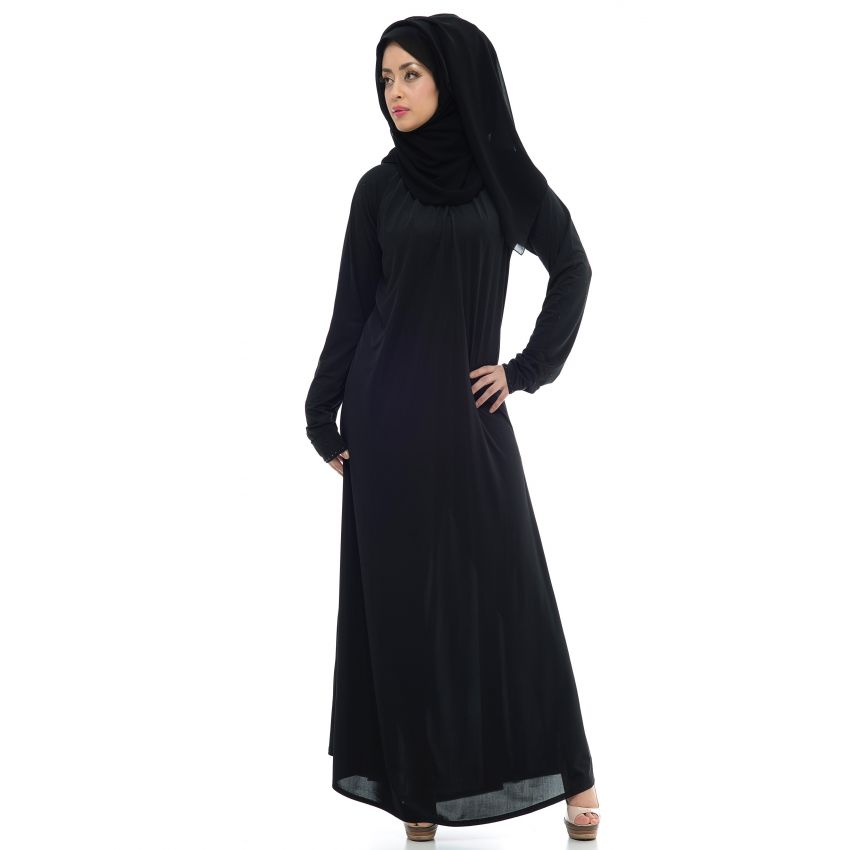 Plain Abaya for Women - Black