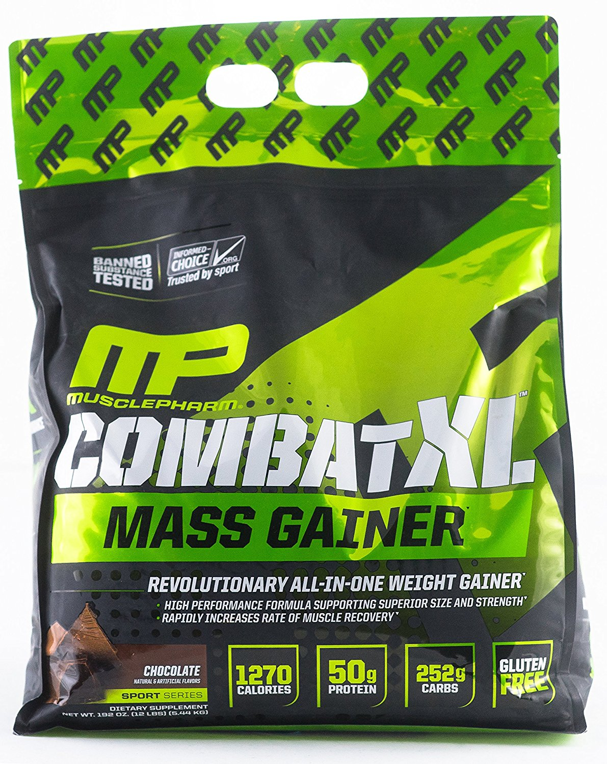 Muscle Pharm Combat XL Mass Gainer, Chocolate- 10