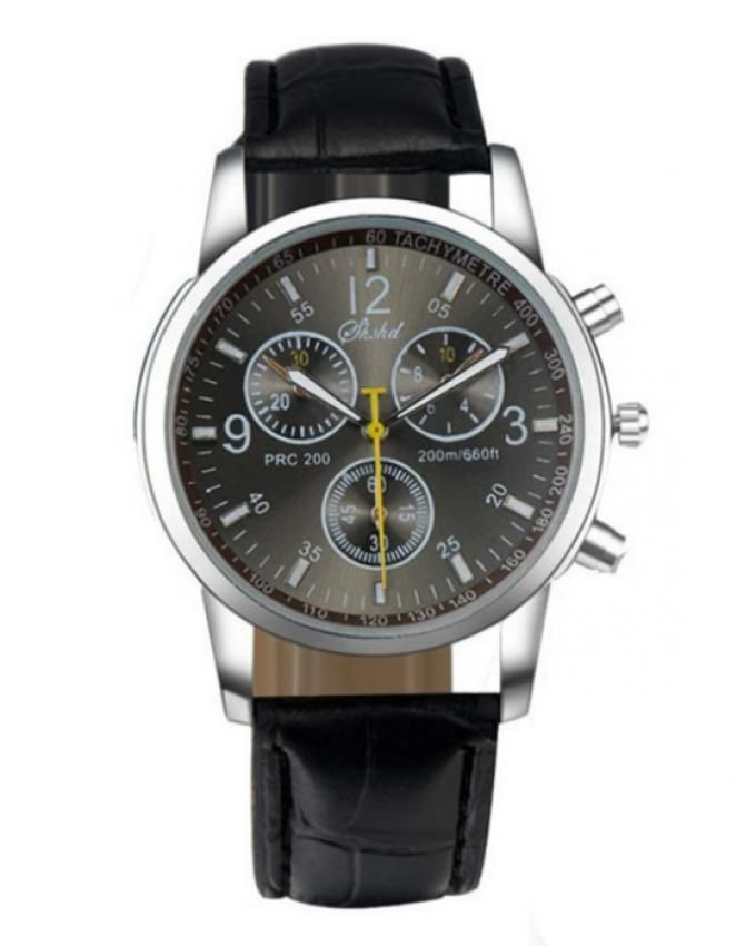 Solo-Black-Leather-Watch-For-Men-1468.html
