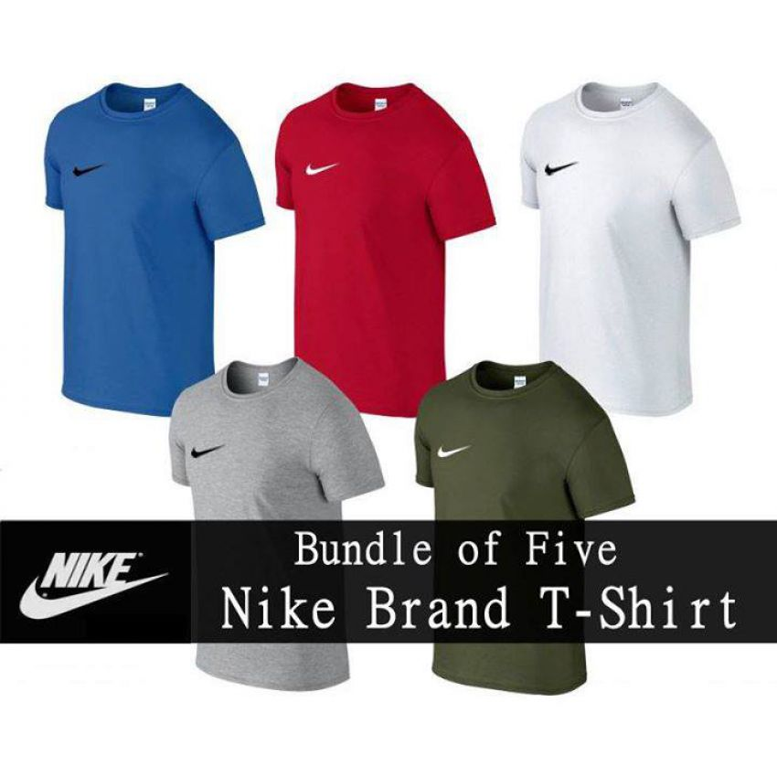 Nike Pack Of 05 High Quality Tshirts For Mens