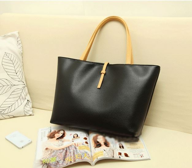 Black PU Leather Bag