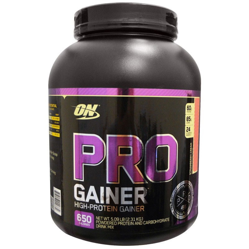 ON Pro Gainer- Strawberry Cream Flavour-2.31Kg