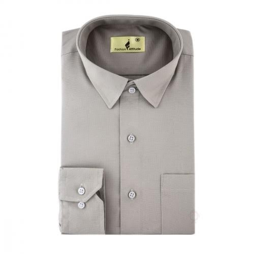 Fashion Inn Attitude Mens Brown Plane Cotton Decent Shirt