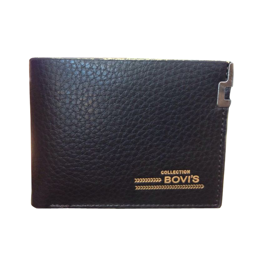 BS Black Leather Wallet for Men