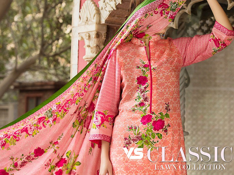 VS Classic Lawn Suit with Lawn Dupatta