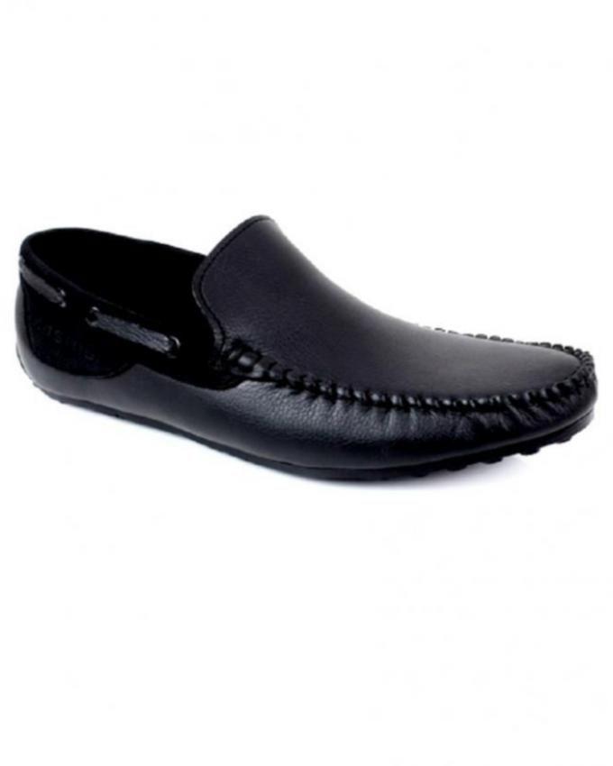 Black Leather Moccasins For Men