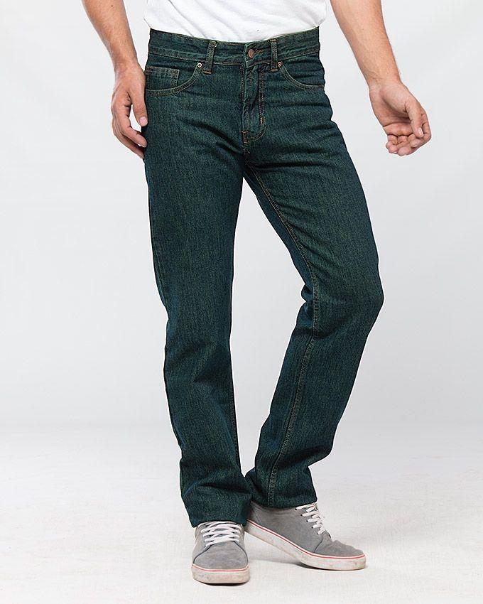 Green Basic Jeans for Men