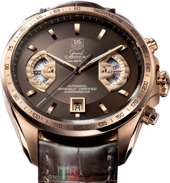 TAG HEUER GRAND CARRERA CALIBRE 17-Rose Gold watch
