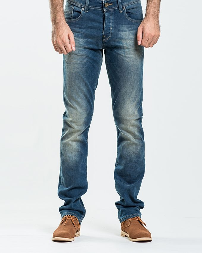 Stoneage Vintage Blue Denim Smette Jeans For Men