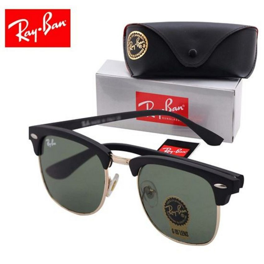 Ray Ban Black Frame Sunglasses for Men