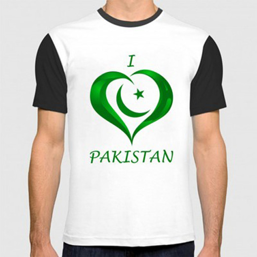 I Love Pakistan Graphic T-Shirt