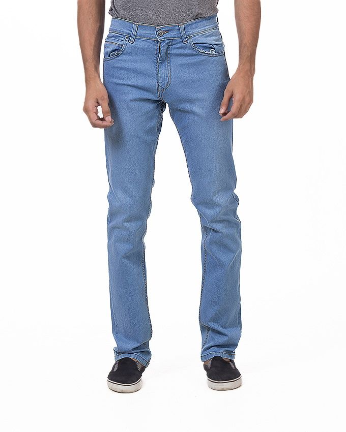 Mexican Jeans Sky Blue Cotton Stretchable Jeans Fo