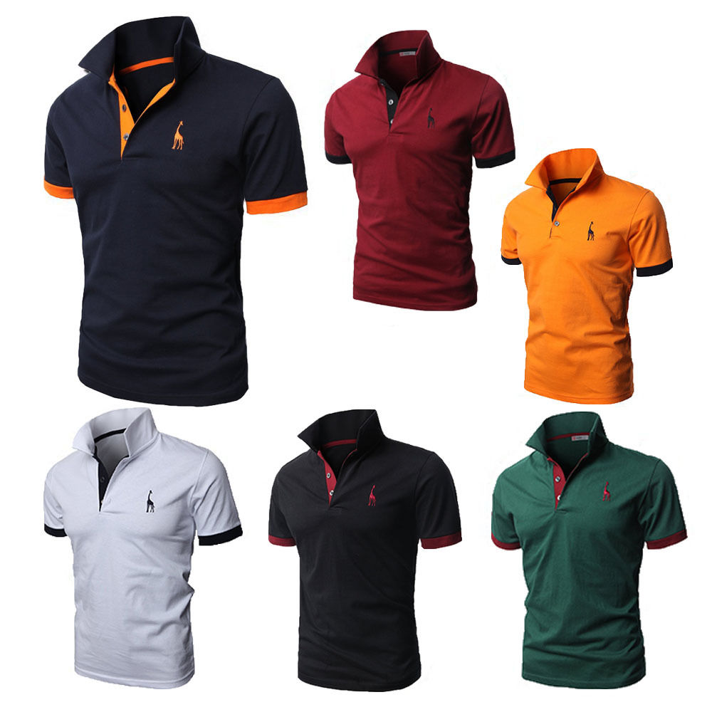 Pack of 6 Mens Slim Fit Short Sleeve Polo Shirt Tops Stylish Designed Casual T-shirts Tee