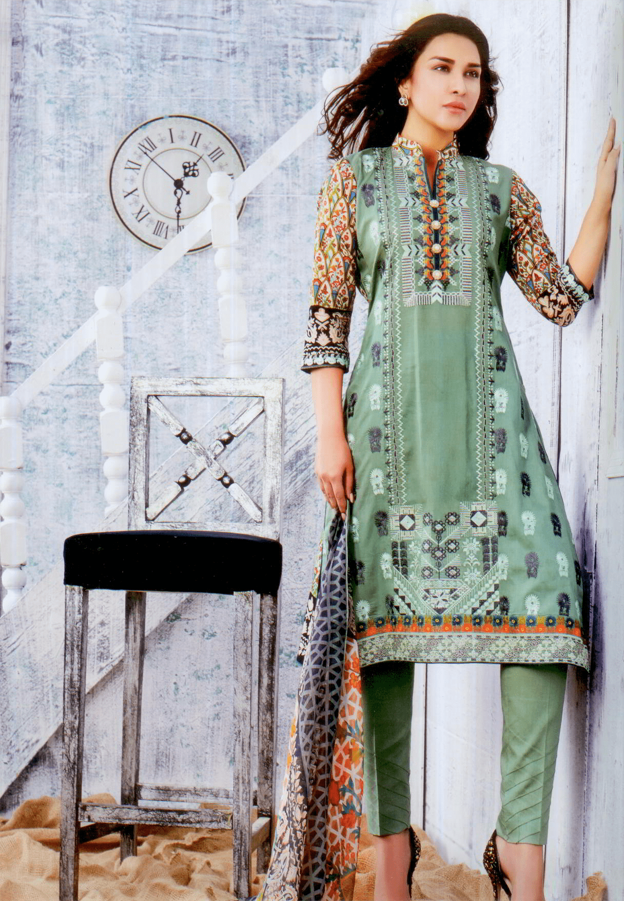 Aliza summer 17 collection-Vol 1- Three piece chiffon suit-3733