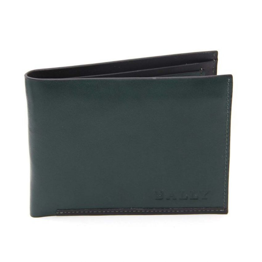 Bally Single Stitched Genuine Leather Wallet
