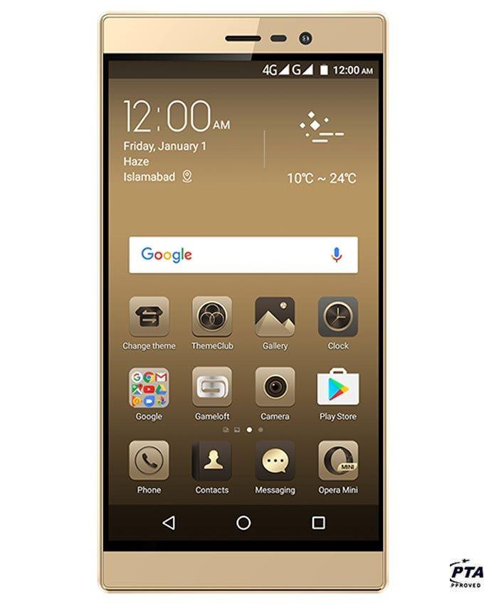 QMobile Noir E1 - 4G LTE - 3GB RAM - 16GB ROM - Gold - Brand Warranty