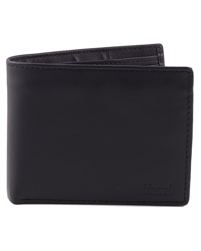 Milano Mall Black Leather Wallet for Men