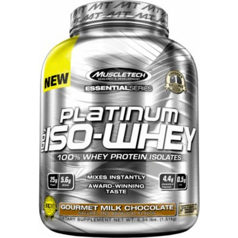 Muscle Tech Platinum 100% Iso Whey 3.34 lbs