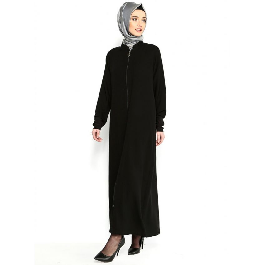 Zipper Simple Abaya for Women
