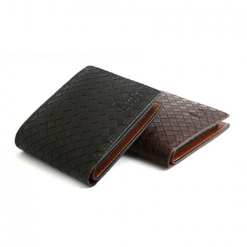 BS Leather Wallet for Men - Black