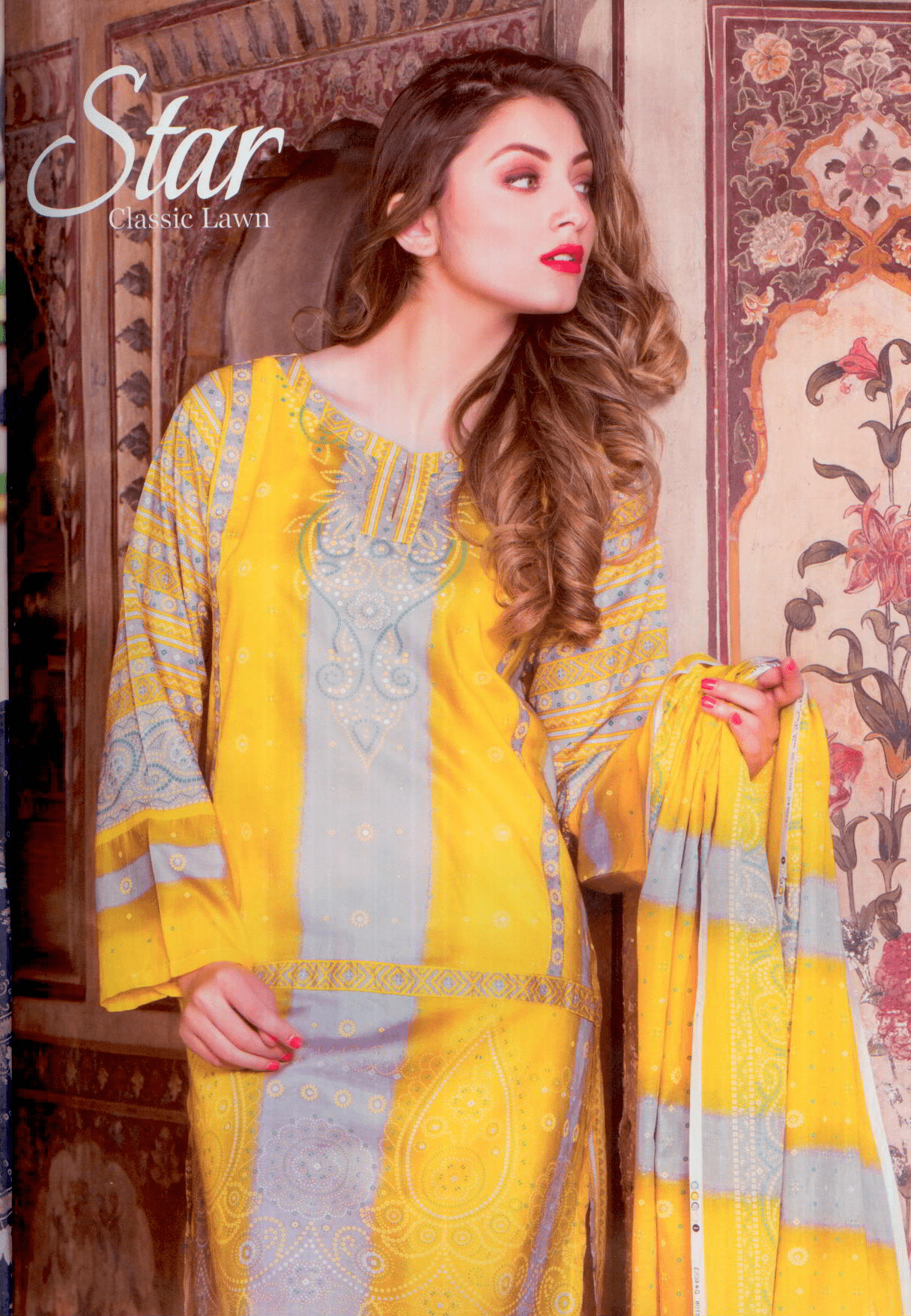 Star printed Lawn suit-Summer 17-Vol 4 Collection