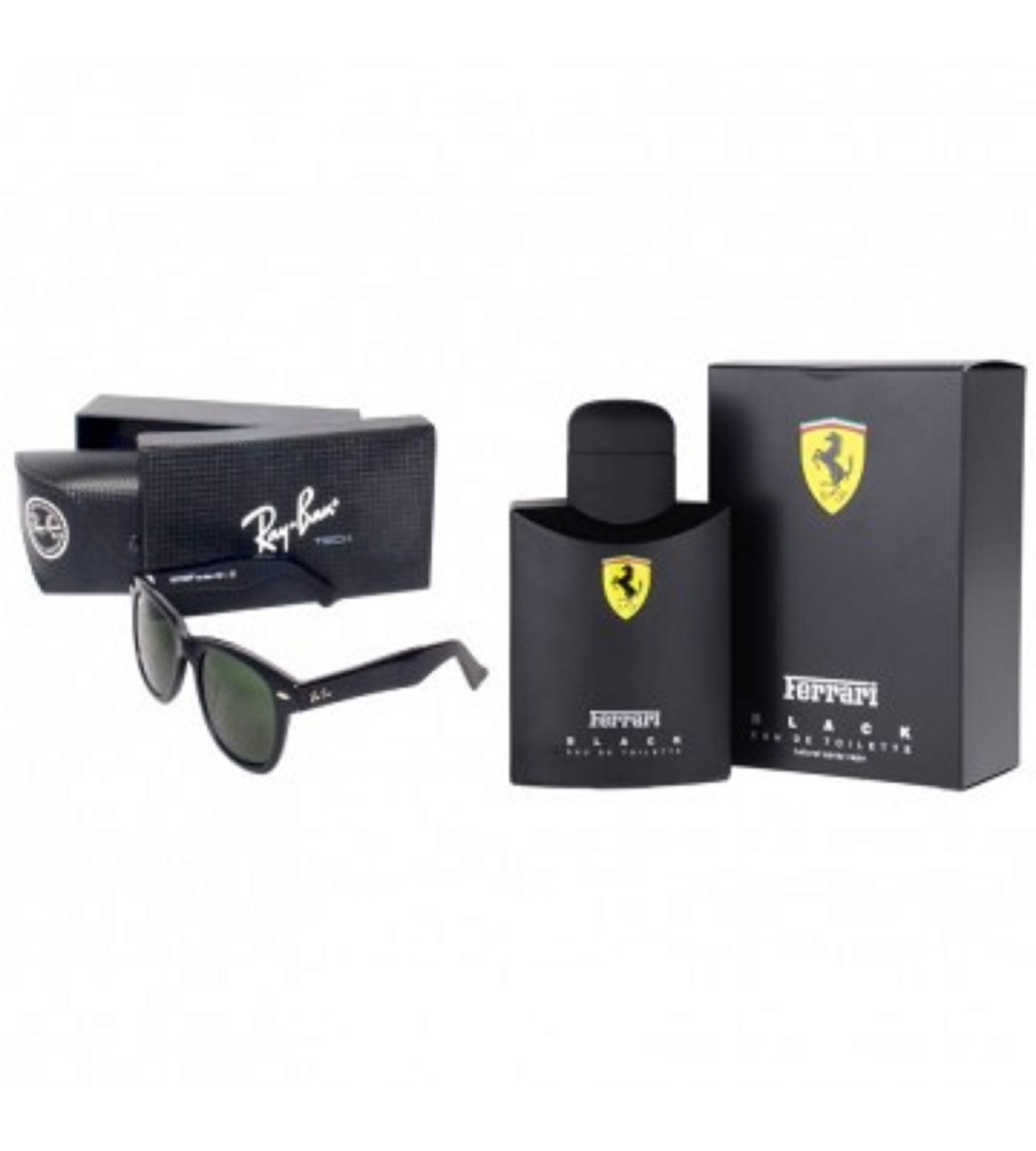 21609b3ec6 Amazing Adventurous Deal Black Ferrari + Ray ban W - Bewpar.pk