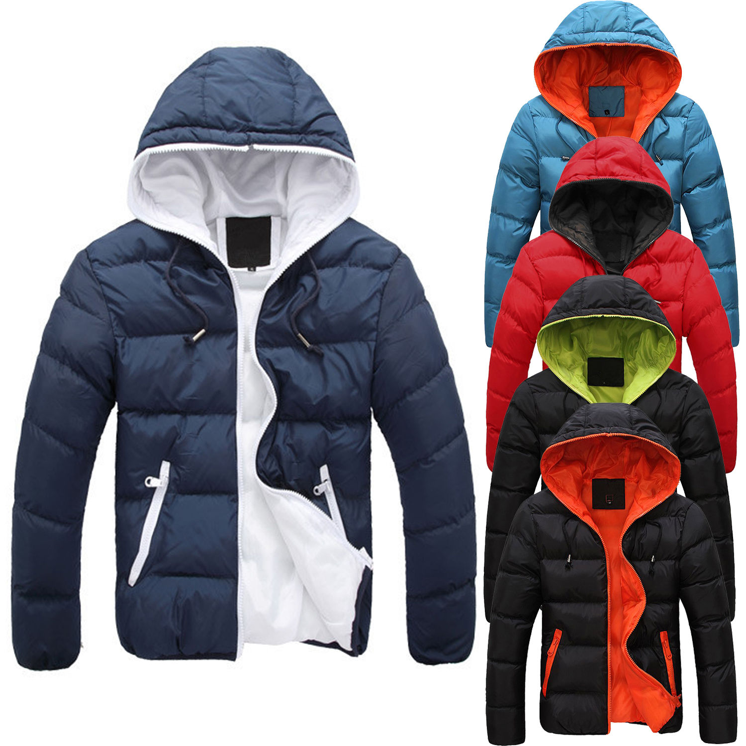 Men's Slim Casual Warm Jacket Hooded Winter Thick