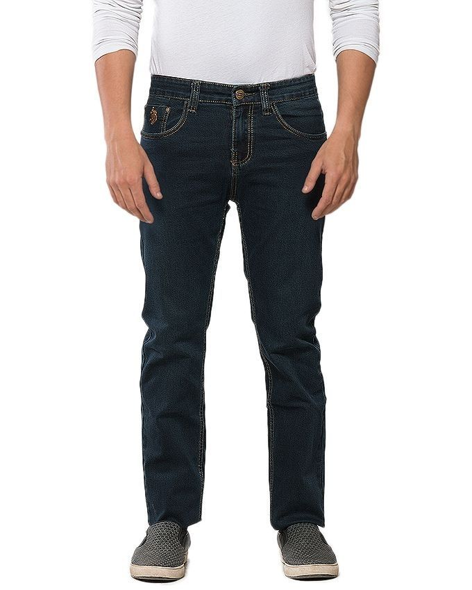 Reborn Dark Blue Denim Jeans For Men - BRSK030