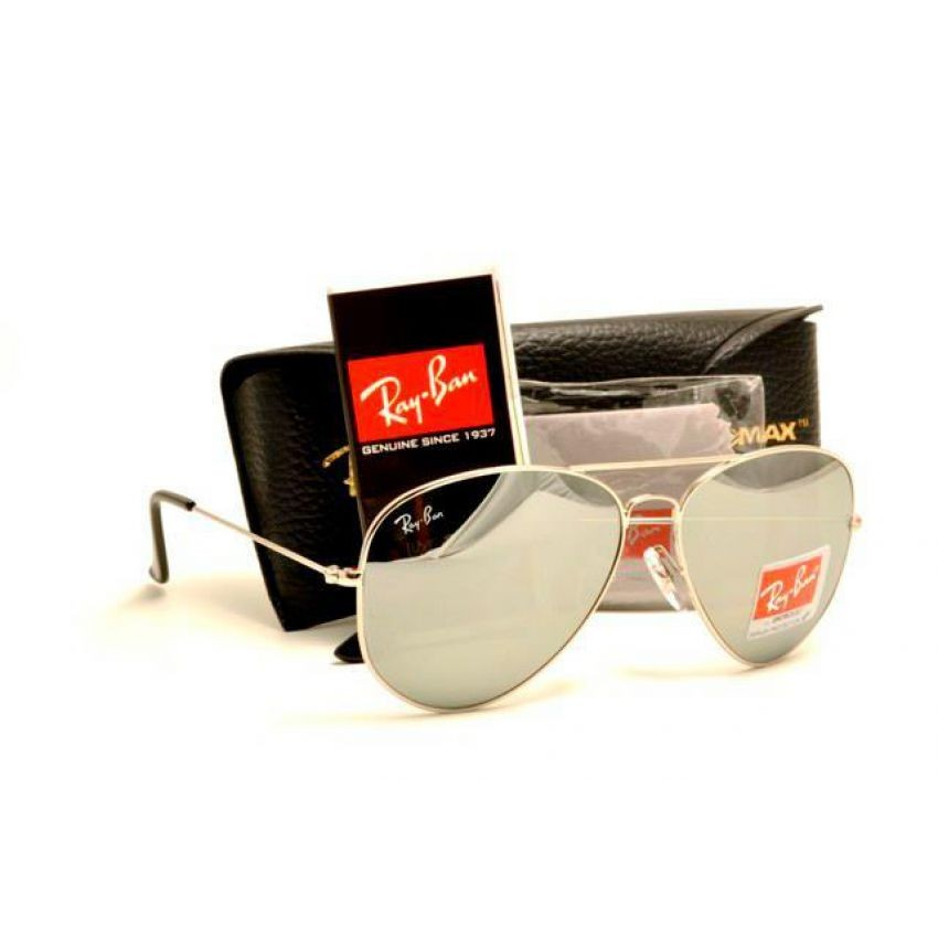 RB Aviator Silver Sunglasses