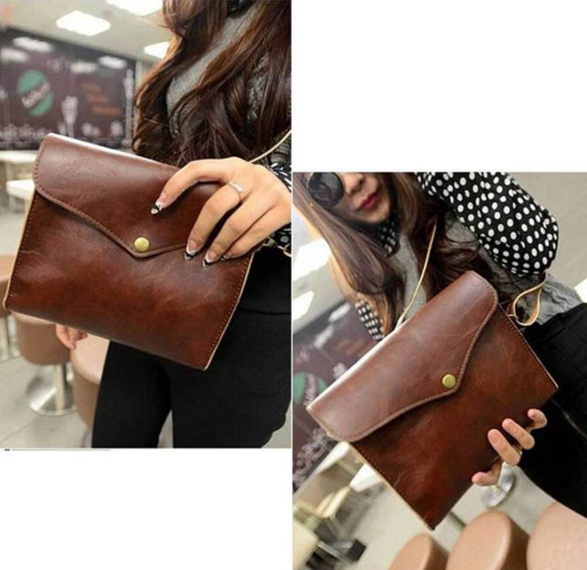 Retro PU Leather Women Shoulder Bag
