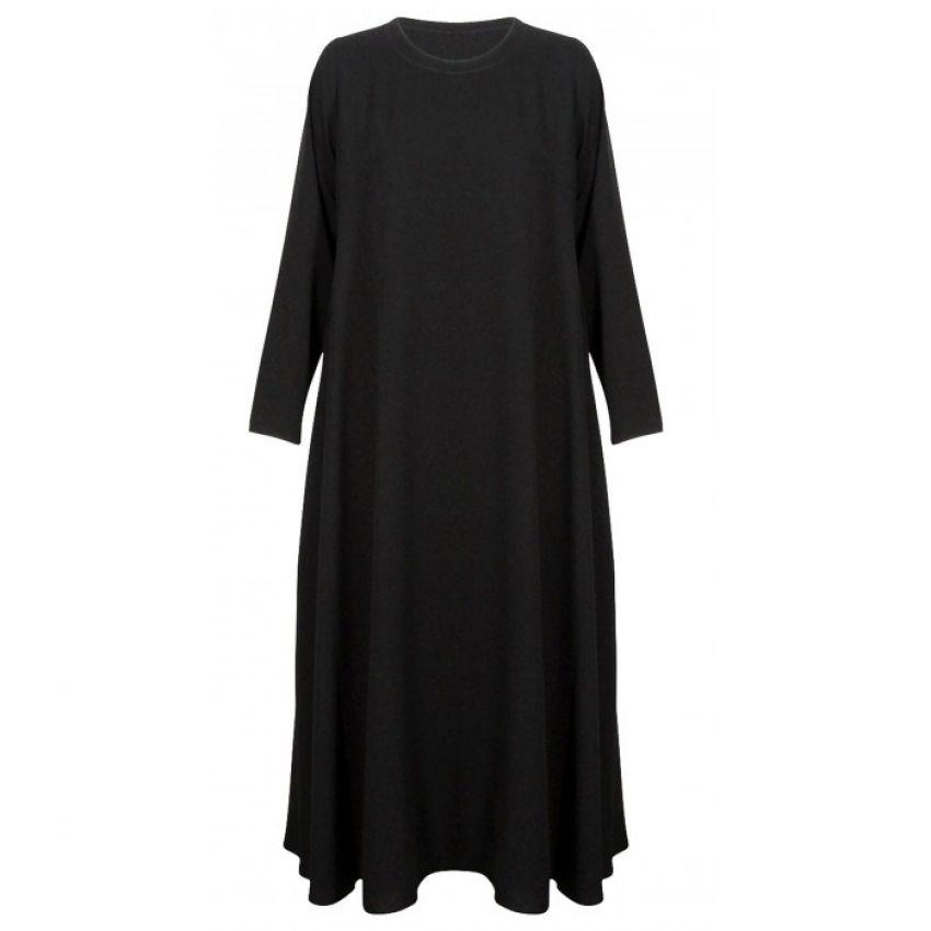 Plain Black Jersey Abaya for Women