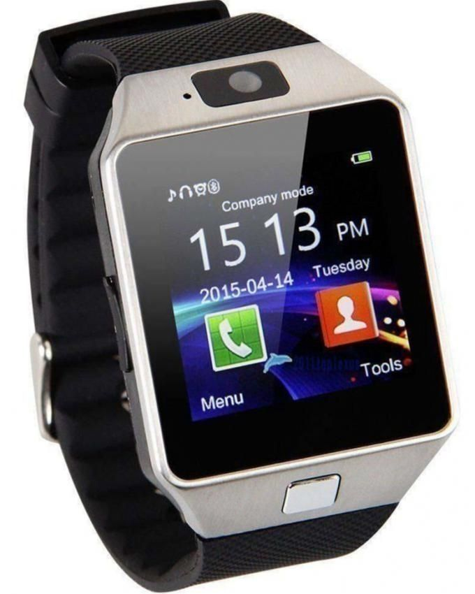 DZ09 - GSM & Bluetooth Smart Watch - Silver