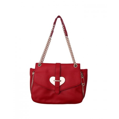 Moschino Red Leather Love Moschino Ladies Fashion Bags