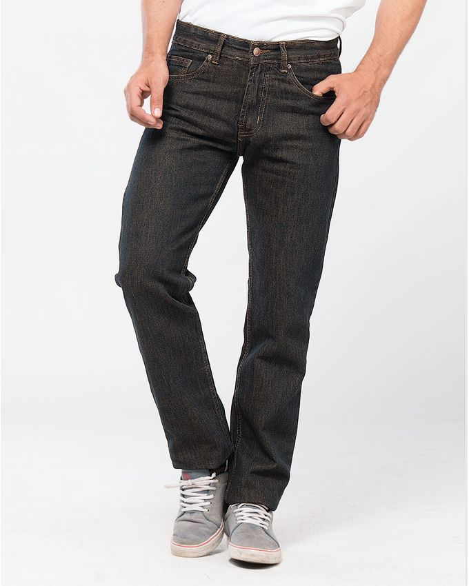 Brown Basic Jeans for Men