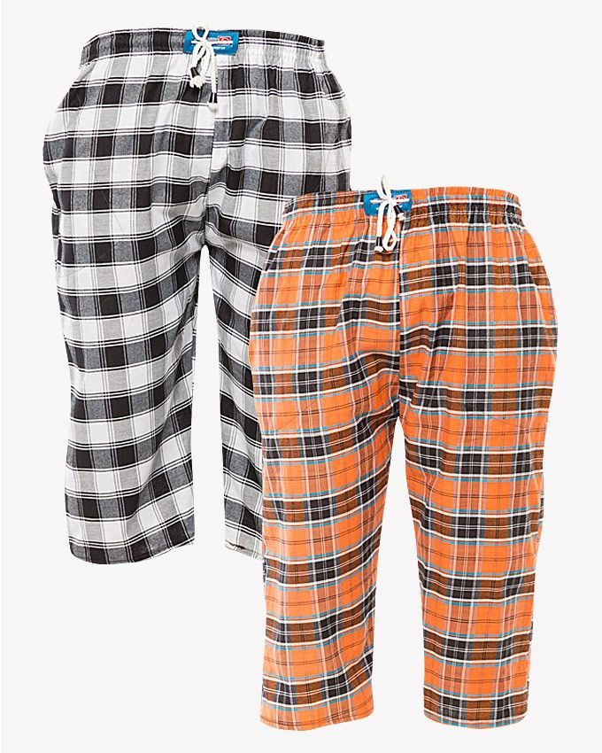 Pack of 2 cargo shorts for men