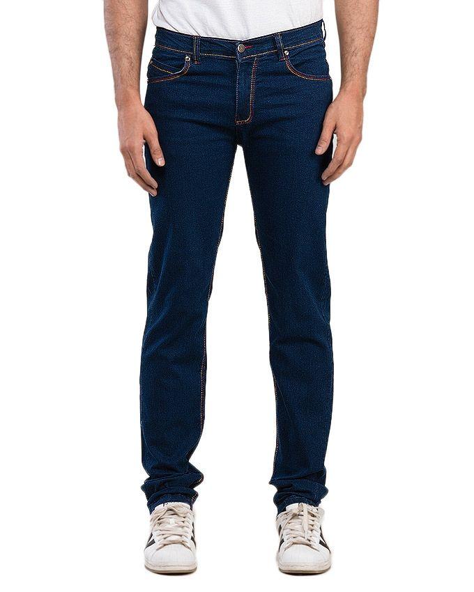 Royal Blue Denim Stretchable Jeans for Men