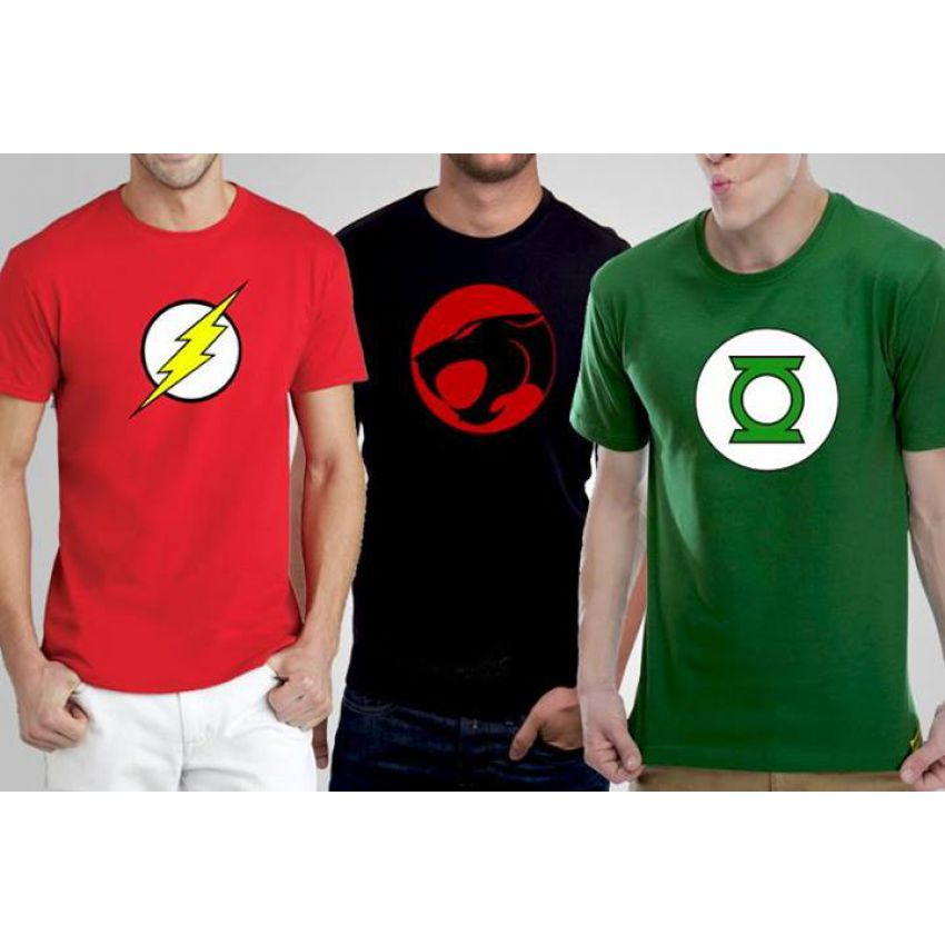 Super Heroes Pack Of 03 High Quality T shirts For