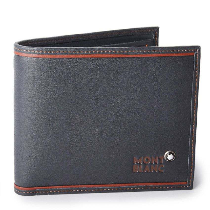 MONT BLANC Black Leather Wallet for Men