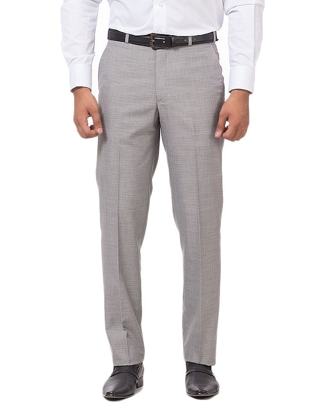 Bien Habille Neutral Grey 100% Cotton Dress Pants-30